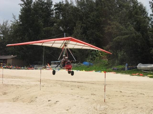 载人动力三角翼飞机